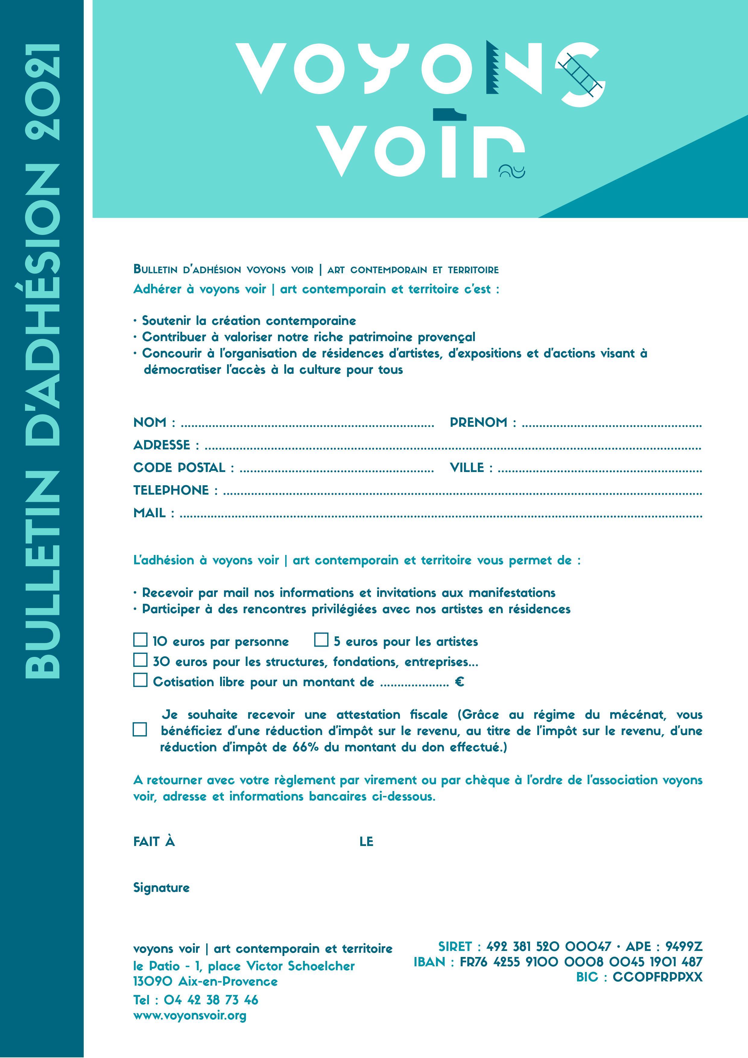 Fiche adhésion VV 2021