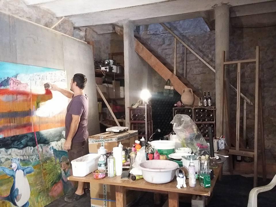 Thibault Franc, atelier expérimental, Domaine du Défend, Rousset 1
