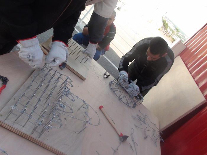 Yazid Oulab, atelier AEM Richebois, sculpture en fil