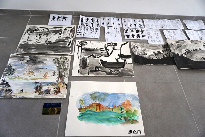 Atelier dessin, Raphaëlle Paupert-Borne et les stagiaires du Centre Richebois, DR.