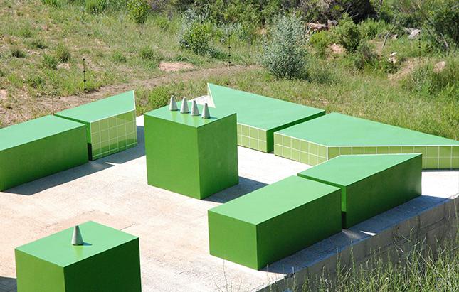 """Jeanne Tzaut, """" Gardinium """", 2014, vue sur l'installation, courtesy de l'artiste."""