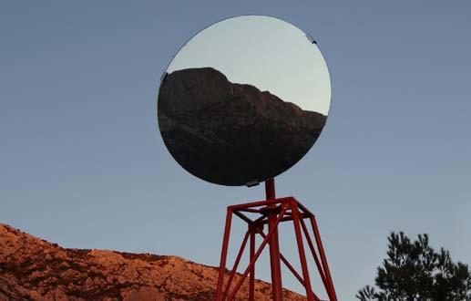 Miguel Palma, Pay(s)cope#1, 2012, métal, miroir