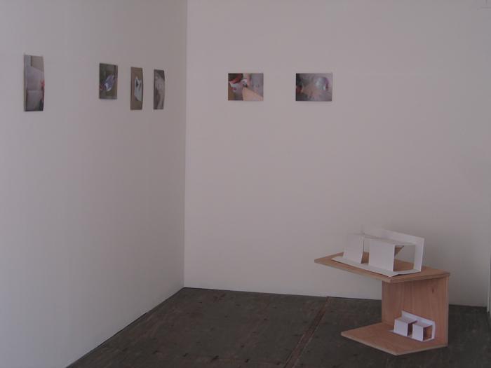 vue de l'exposition dans un container